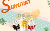 夏季冰激凌背景图片