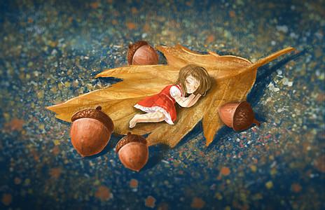立秋手绘小清新图片