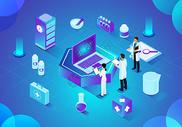 科技医疗商务办公立体插画图片