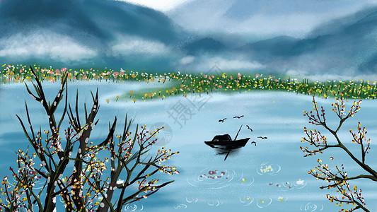 中国风青山绿水图片