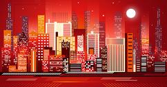 绚丽的城市立体插画400310223图片