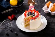 蛋糕女孩图片