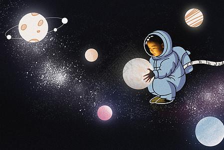 可爱宇航员originality摄影插画picture