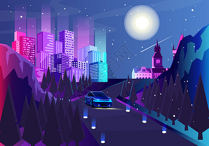 绚丽城市夜景图片