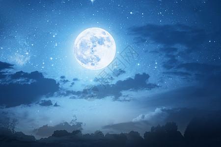 唯美月夜图片