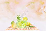 夏日水果冷饮图片