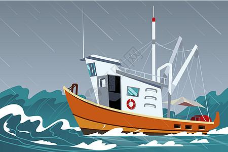 夏季自然现象海上大雨图片