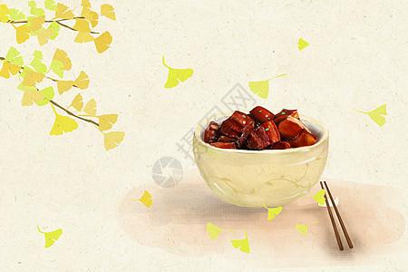 立秋黄色银杏叶图片