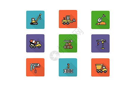 工程施工类图标图片