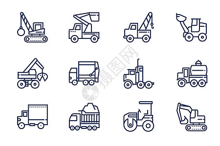 建设运输工具图标图片