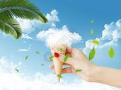 夏日创意冰激凌合成图片