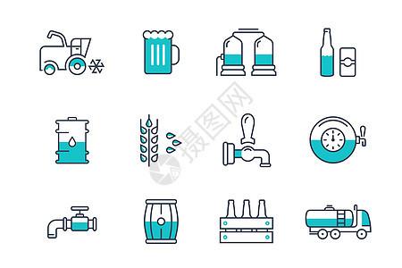 啤酒工业图标图片
