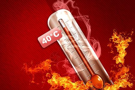 创意高温温度计图片