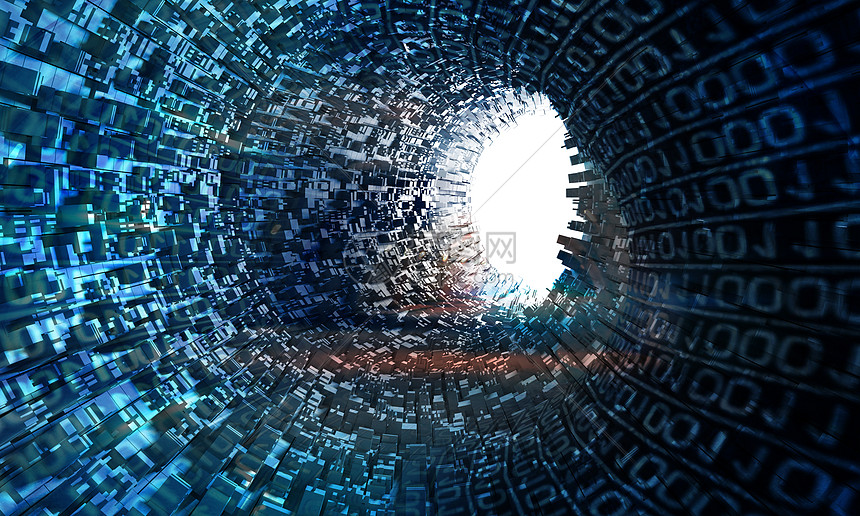 大数据隧道背景图片