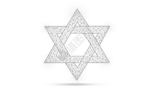 相交的三角形图案背景图片