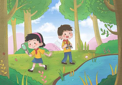 儿童暑假夏令营图片