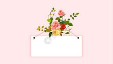 小清新玫瑰背景图片