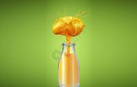 夏日芒果汁图片