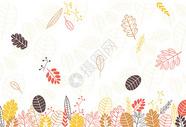 秋天秋叶背景图片
