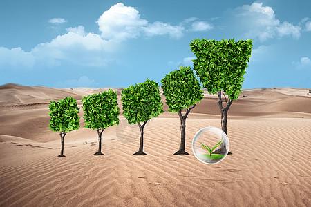 沙漠环保场景图片
