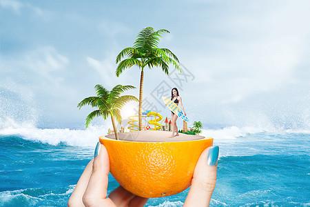 创意清凉沙滩度假图片