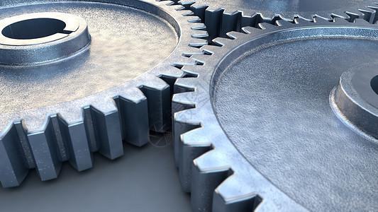 3D金属齿轮图片