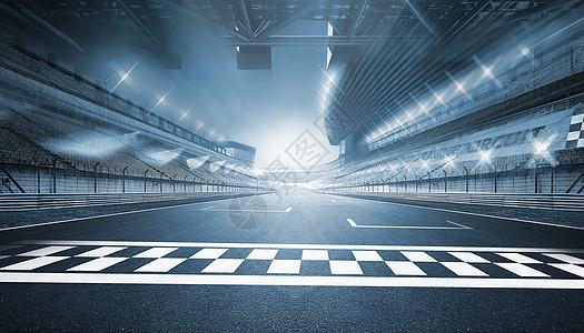 炫酷汽车跑道场景图片