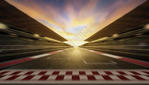 炫酷赛车道背景图片