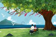 许愿树下的情侣图片
