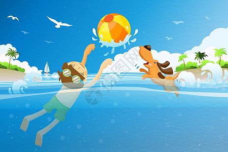 夏季游泳图片