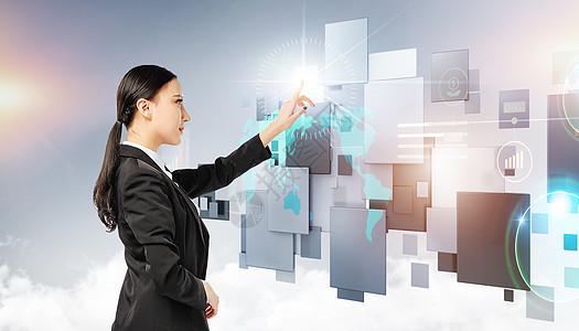 创意未来科技触摸屏幕图片