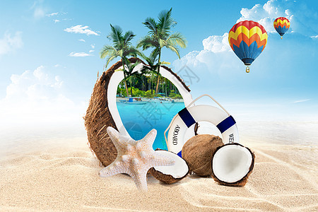 度假旅游创意背景图片
