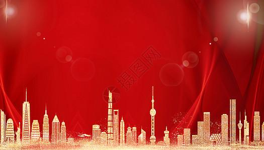 红金大气背景图片