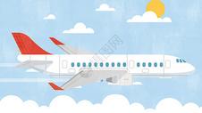 航天飞机扁平插画图片