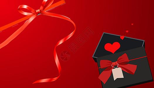 创意红色蝴蝶结图片