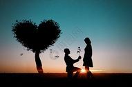 浪漫爱情背景图片
