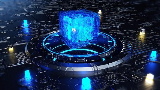 维科幻科技能量场景图片