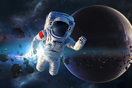 太空漂浮的宇航员图片