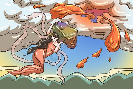 神话故事插画图片
