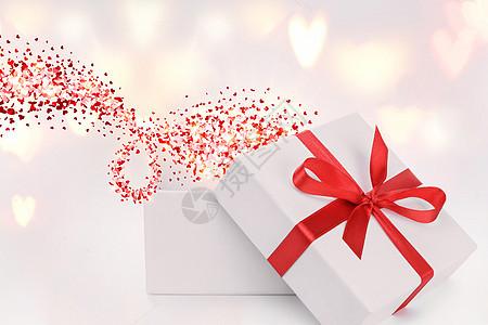白色礼物盒场景图片