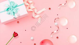 浪漫礼盒背景图片