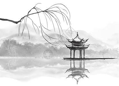 中国风江南古亭图片