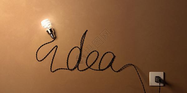 创意灯泡idea图片