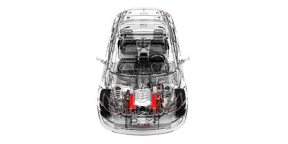 透明汽车场景图片