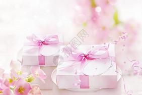 粉色唯美礼盒图片