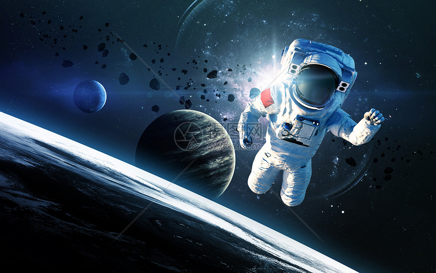 宇航员探索空间图片