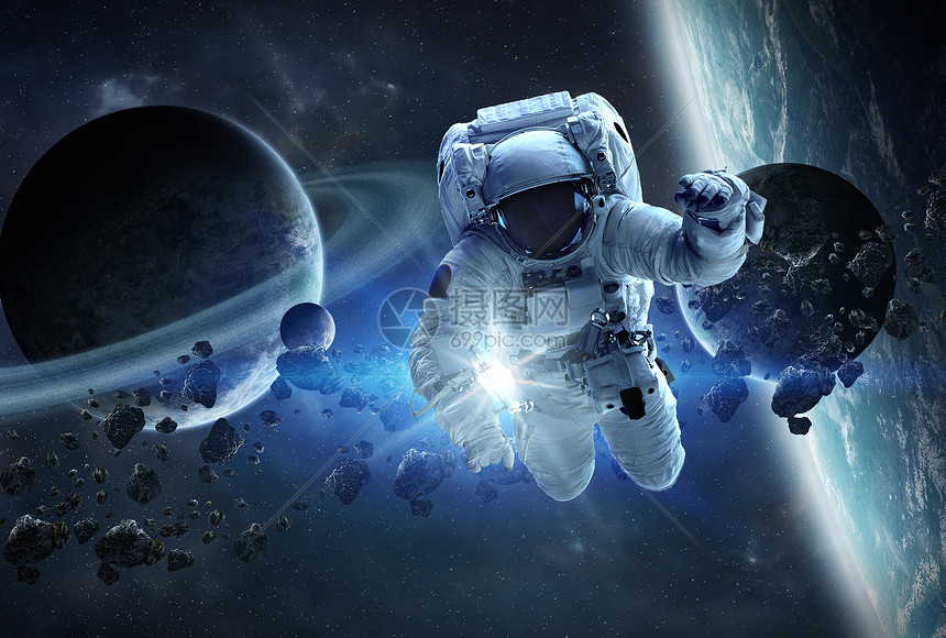 太空里漂浮的宇航员图片
