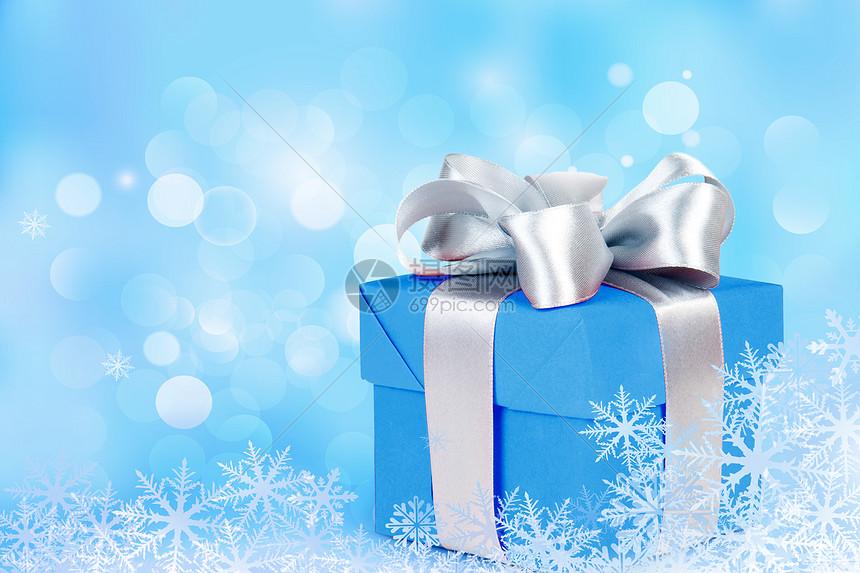 蓝色礼盒图片