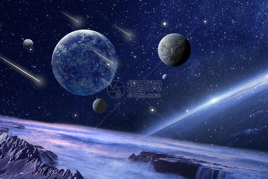 科幻陨石空间图片