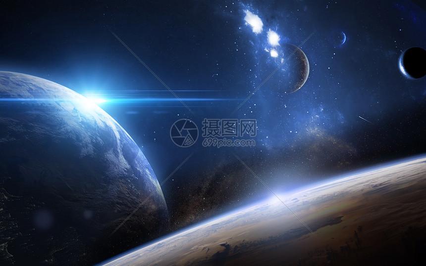 科幻太空场景图片
